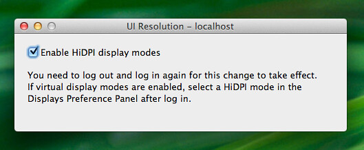 Enabling HiDPI using Quartz Debug on Lion