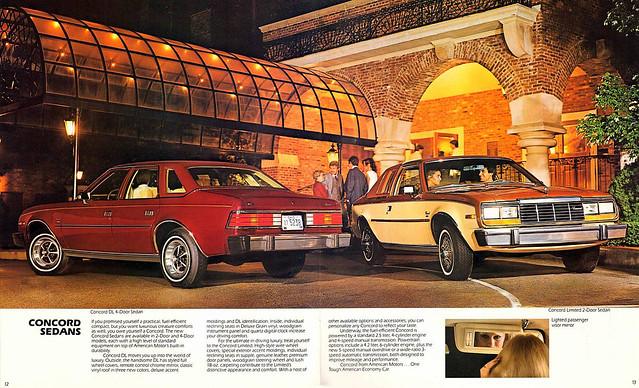 1982 AMC Concord Sedans brochure page