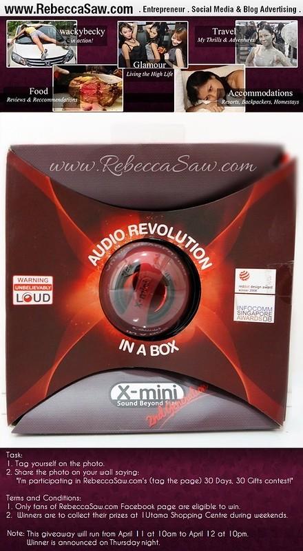 rebeccasaw giveaway X-1 speaker