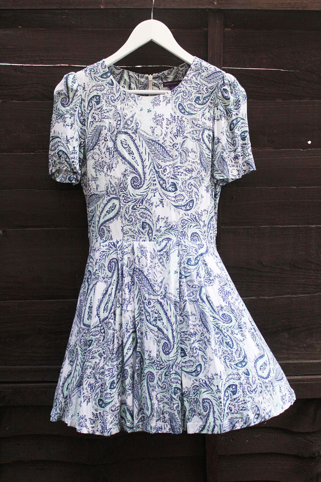 Urban Outfitters Vaudeville & Burlesque Fit And Flare Paisley Dress