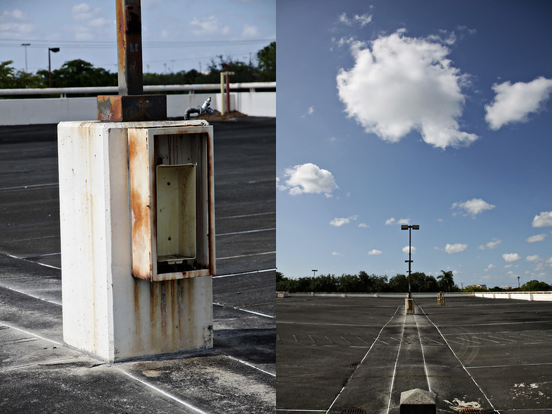 abandoned garage diptych 6