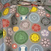 Vintage Buttons (grey) by marcelinesmith by Spoonflower Fabrics