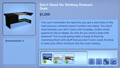 Don't Need Stinking Drawers Desk