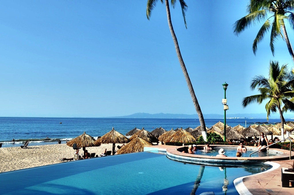 Peaceful pool at the Dreams Resorts in Puerto Vallarta, Mexico