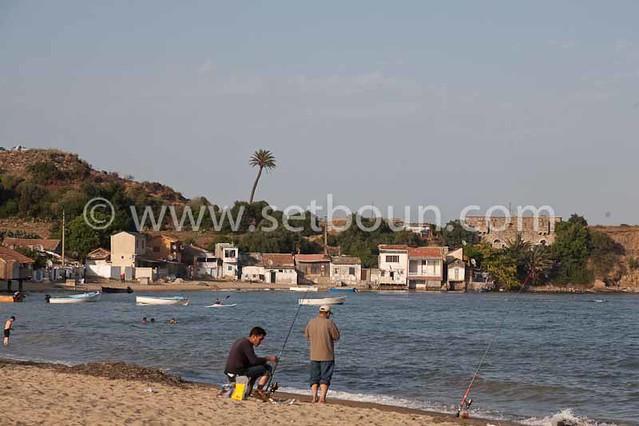 Algeria, annaba . caroube beach annaba algeria / plage de la caroube