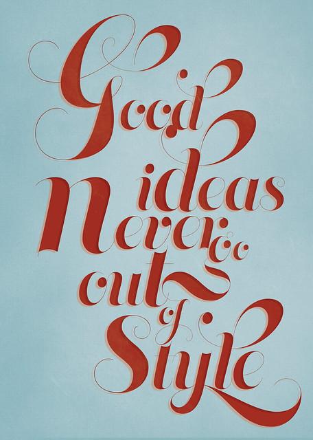 Typographic Poster by Marisa Passos