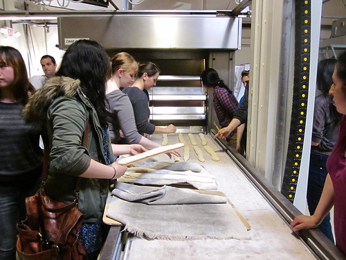 class laying out baguettes