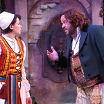 Twelfth Night L-R Kate Berry (Viola)_Logan Ernstthal (Sir Toby Belch) photo P. Switzer -