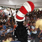 KLRU 50th Birthday Party 2012 151 KUT's Bob Branson reads with The Cat in the Hat