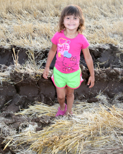 Kaidence enjoys the mud a little too much