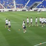 Lionel Messi: Argentina training session