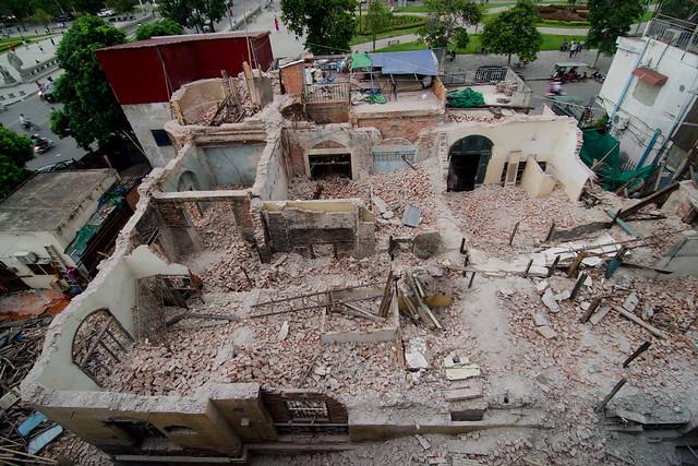 Demolition of Colonial Building