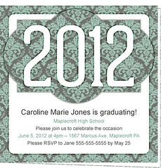 Customizable 2012 Printable Graduation Invitation