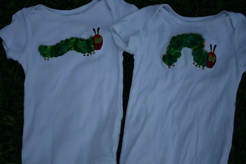 Caterpillar birthday onesies