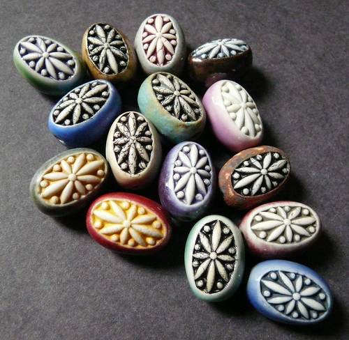 Porcelain Egg Beads