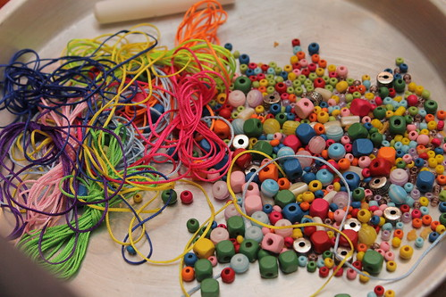 Making Bead Necklaces and Stuff