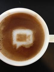 Today's latte, Start a hangout.