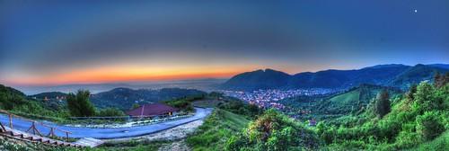 sunset panorama pano panoramic hdr brasov
