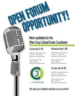 OC3 Open Candidate Forum
