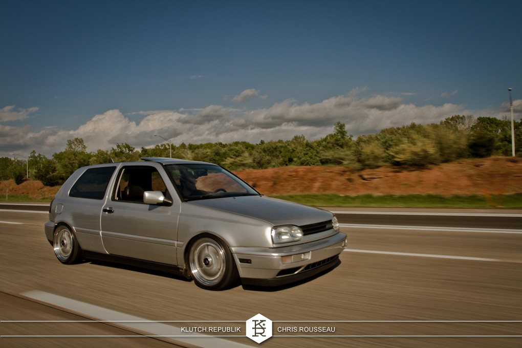 silver mk3 vw gti rolling shot at staggered 2012