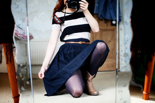 15.05.12 :: Ding Dong Hello Lincoln! My @COSstores Striped Tee, @Matalan old Glitzy Midi Skirt & @LamaPeach Paige Boots Look inspired by @Refinery29 (I LOVE YOU GUYS!)