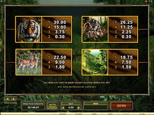 free Untamed Bengal Tiger slot payout