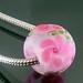 Charm bead : Pink Rose
