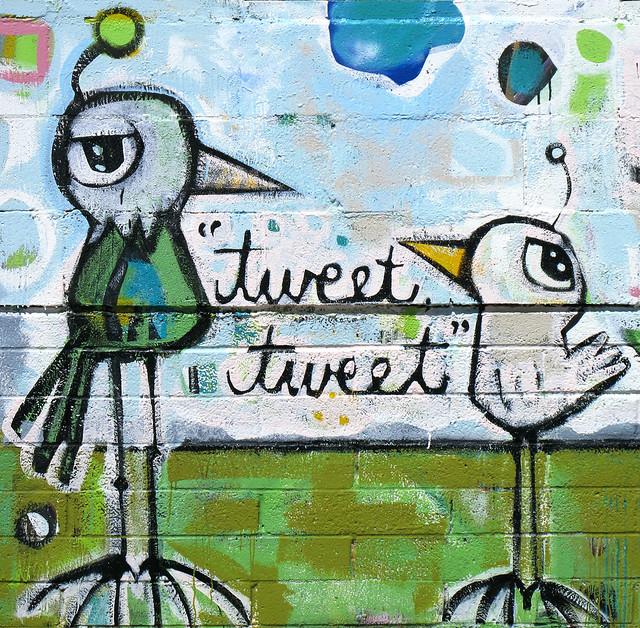 Twittering Tweets Mural