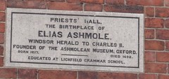 Photo of Elias Ashmole stone plaque