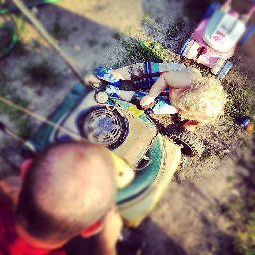 Fixing with Daddy.