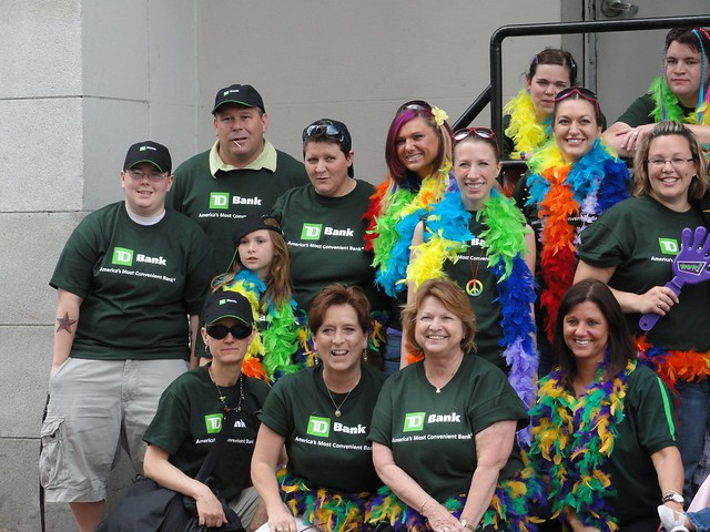 TD Bank Group [Pre-parade]. taken at Southern Maine Pride. Portland, Maine.