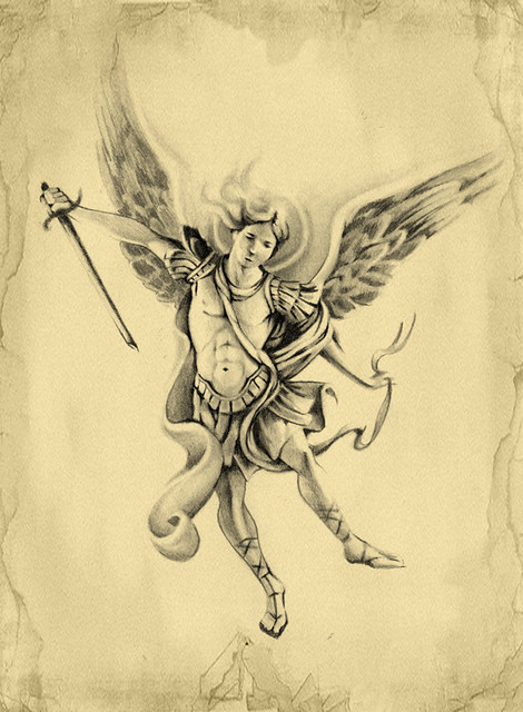 Archangel Michael Tattoo Design