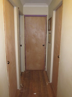 New doors on kids' rooms and upstairs bathroom