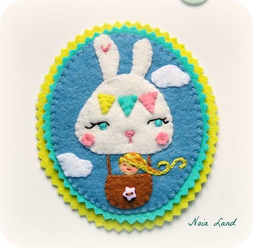 Broche conejo aerostático