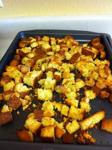 Cornbread Croutons