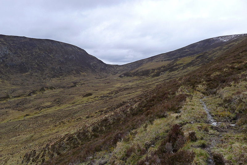 The track through Coire Mhadaidh