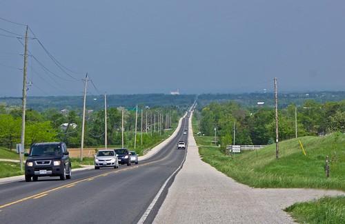 ontario tarmac rural horizon roadside hazy farfaraway utilitypoles simcoecounty clearviewtownship hwy124 ourdailychallenge