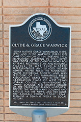 Photo of Clyde Warwick and Grace Winkleman black plaque