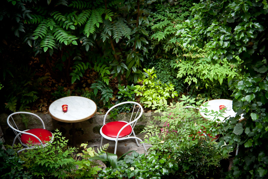 The Back Garden at Hotel Amour - Montmartre, Paris