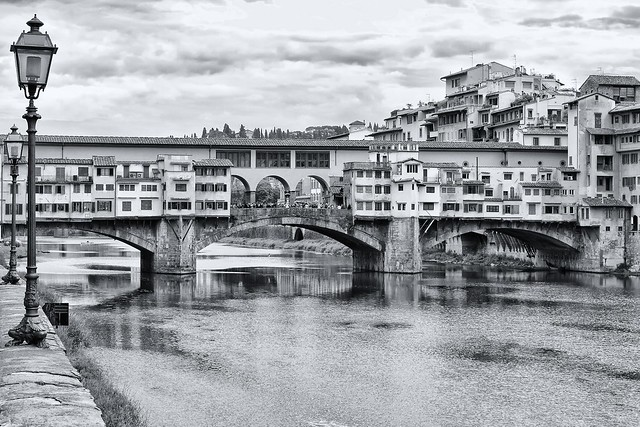 The Famous Old Bridge in Florence, Italy