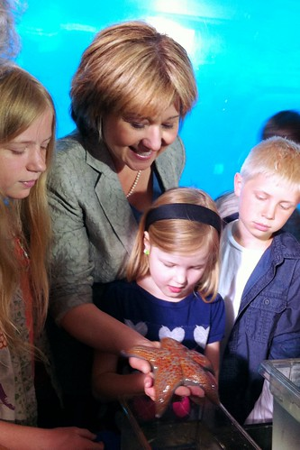 Premier Christy Clark, Hannah and a sea star