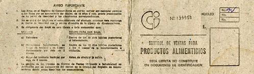 Cienfuegos, Cuba: Ration Card