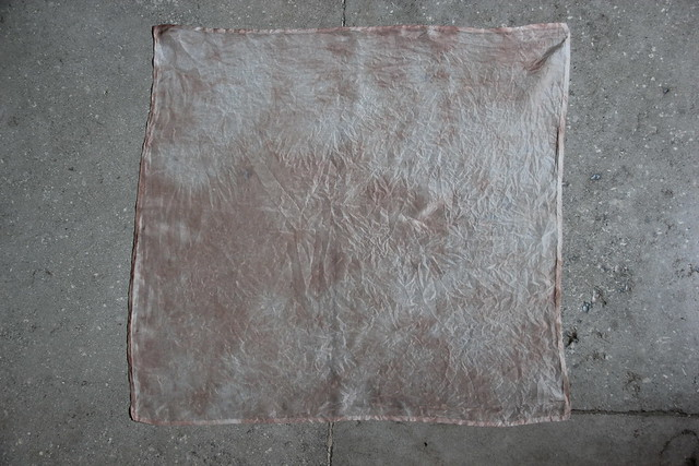 five silk scarves