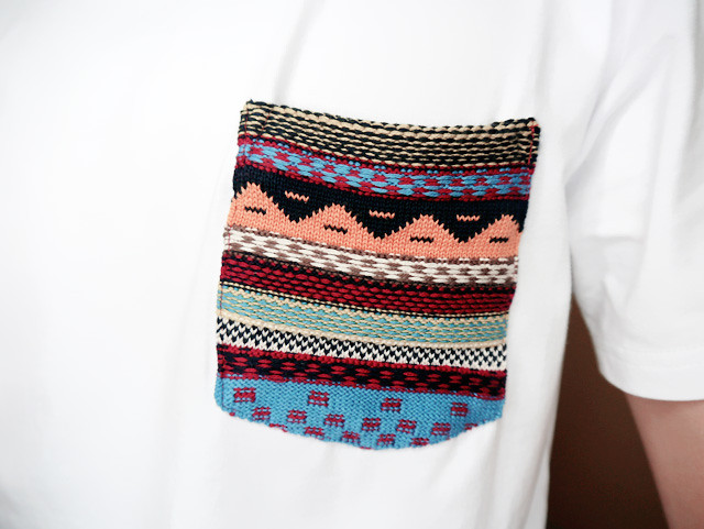 Aztec Pocket Tee close up Hollyhoque hhommecollection