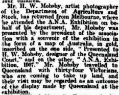 Article re gift to HWM 30 Mar 1907 The Queenslander copy