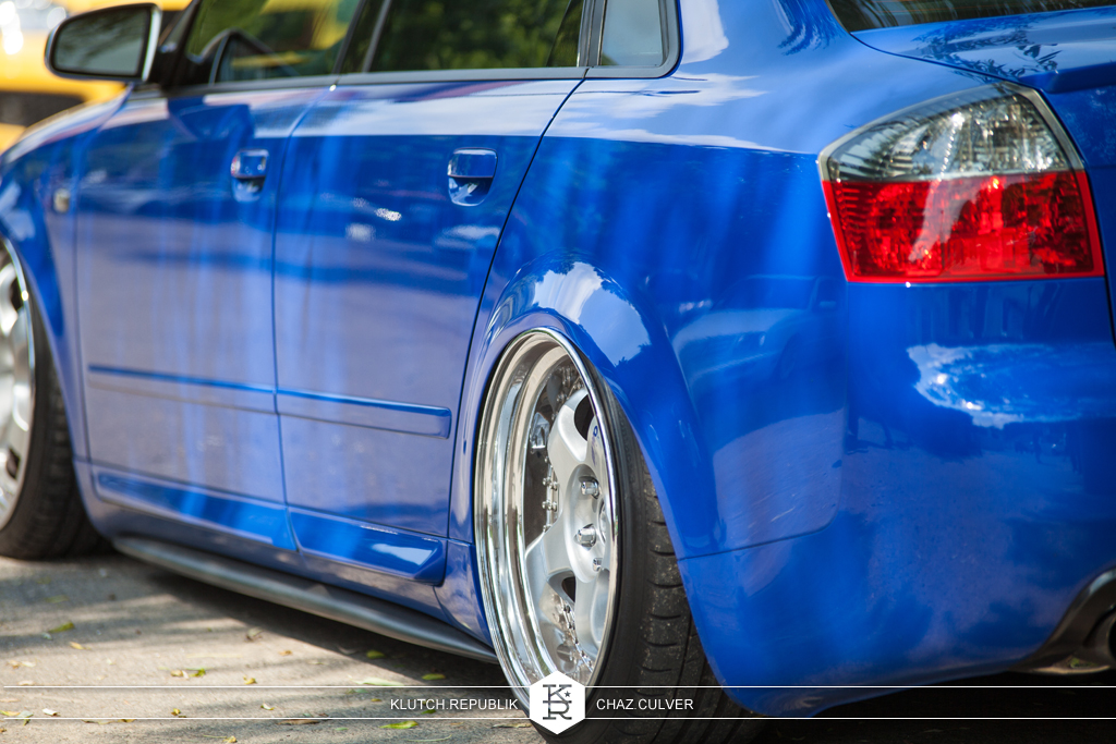 blue b6 audi s4 on airride, work meisters at southern worthersee 2012