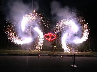 """""""BROCART"""" SRL - Focuri de artificii şi efecte speciale > Наземный фейерверк """"Сердце"""""""