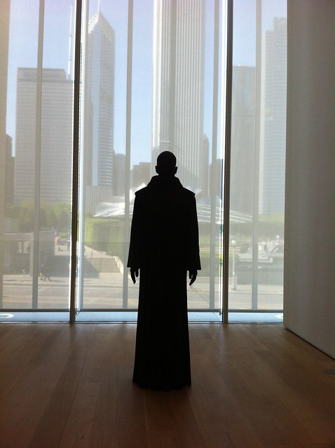 Ominous Monk Statue at Art Institute of Chicago