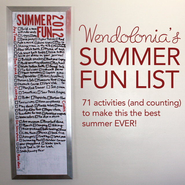Summer Fun List 2012