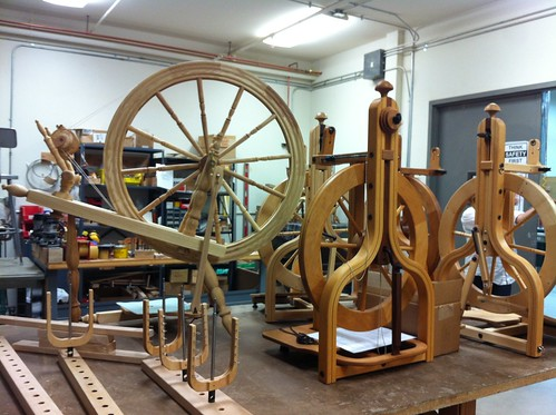 Assembling the spinning wheels